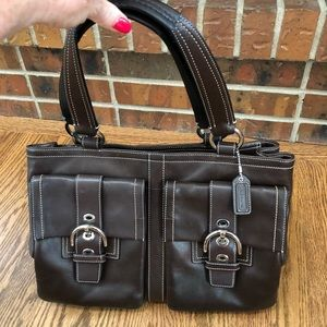 Coach Large Brown Leather Soho Tote Bag F06468